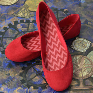 Shoes - Red Ballerina Flats